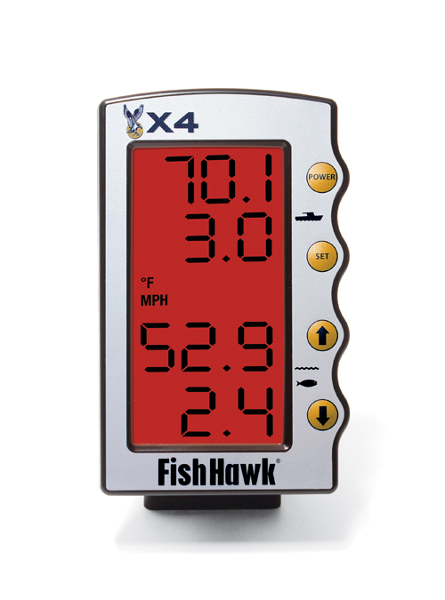 Fish Hawk X4 Display with 3-Level Red Backlight and Mount