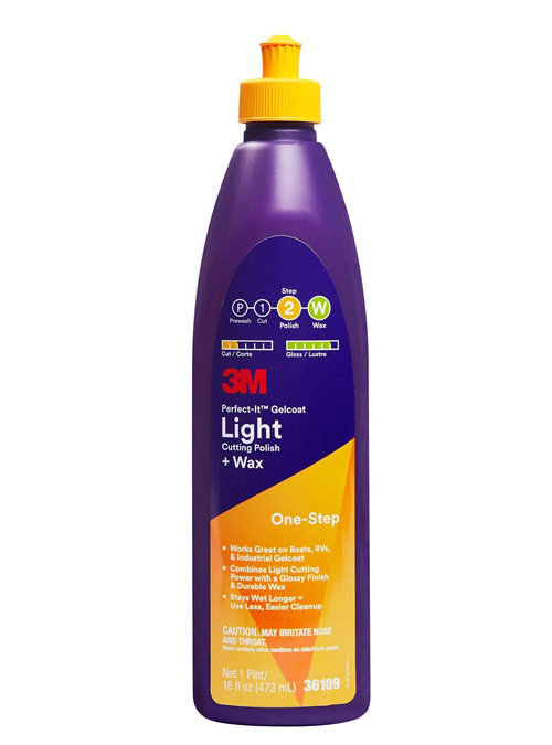 3M Perfect-It Gelcoat Light Cutting Polish + Wax