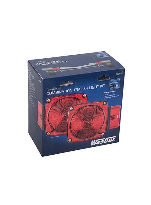 "Wesbar Submersible LED Over-80"" Combination Trailer Light Kit"