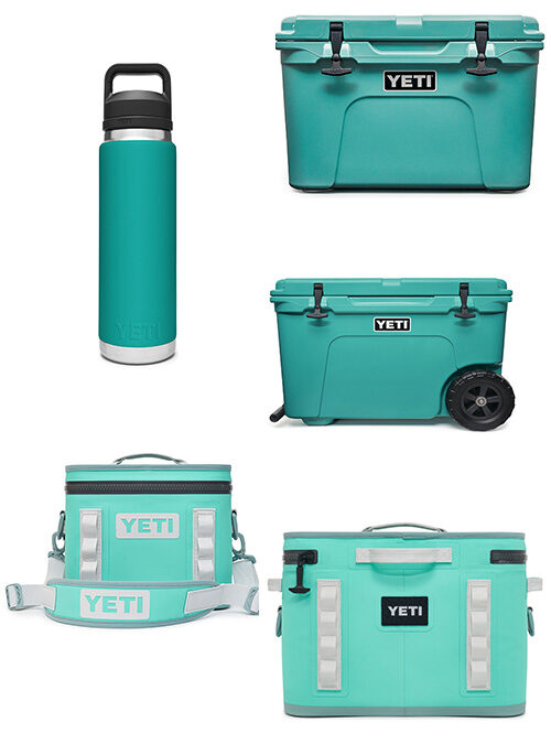 "Yeti Exclusive Color ""Aquifer Blue"""