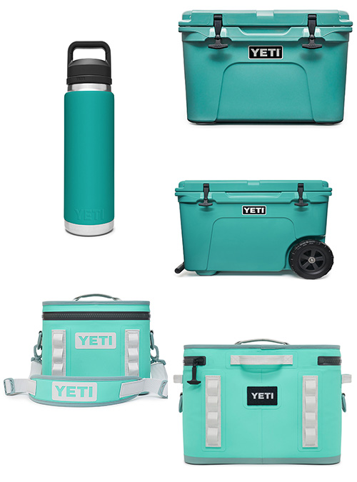 "Yeti Exclusive Color ""Aquifer Blue"""