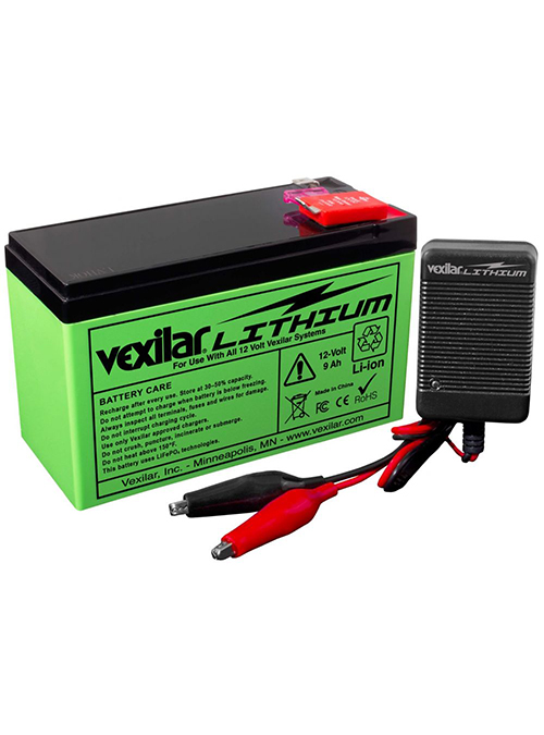 Vexilar 12 Ah Lithium Ion Battery & Charger